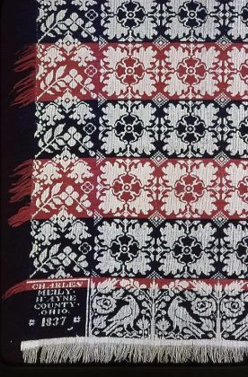 United States (1830-1840), Cotton and wool, plain weave double cloth, 91 x 83 1/2 in., Art Institute of Chicago, Chicago. 2002.211